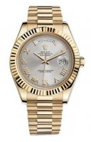 Rolex Day-Date II Argent 18kt automatique en or jaune