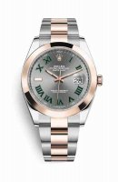 Replique Montre Rolex Datejust 41 Everose Roles 18 ct Everose 126301 Slate Cadran