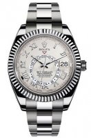 Rolex Oyster Perpetual Sky-Dweller 42mm or blanc 326939-72419