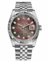 Rolex Datejust 36mm Acier Dark Mother of Pearl Cadran Jubilee Bracelet 116234 DKMDJ