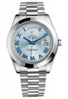 Rolex Day-Date II Cadran Bleu Platinum Case automatique