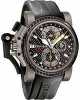 Graham Chronofighter Oversize Titanium Airwing Noir Carbon Homme 2OVKI.B09A