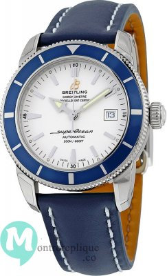 Breitling Superocean Heritage Automatique Silver Dial Blue Leather A1732116/G717/112X/A20D.1