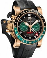 Graham Chronofighter Oversize GMT Noir BRG Gold Homme 2OVGR.B16A.K10B