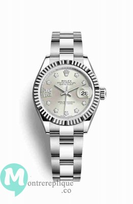 Replique Montre Rolex Datejust 28 blanc Roles 279174