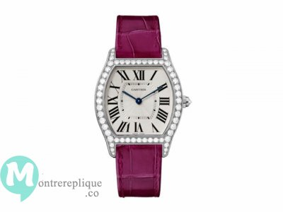 Cartier Tortue argented Flinque Dial mesdames Replique Montre WA501009