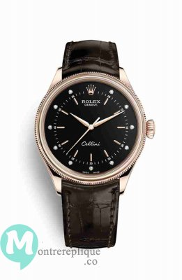 Replique Montre Rolex Cellini Time 18 ct Everose de Cadran