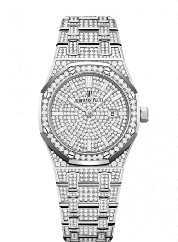 Copie de Audemars Piguet Royal Oak 33 Quartz Or Blanc/Diamant/Argent/Bracelet 67652BC.ZZ.1265BC.01